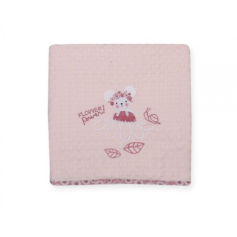 Βρεφική Κουβέρτα Κούνιας Flower Power 110x150