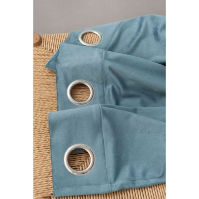 Κουρτίνα Με 8 Τρουκς Caldo Palamaiki Blue 140X260 Polyester